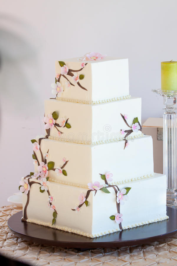 Tradycyjny Ślubny tort fotografia stock