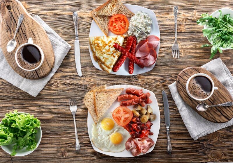 Tradycyjny śniadanie w domu zdjęcie royalty free