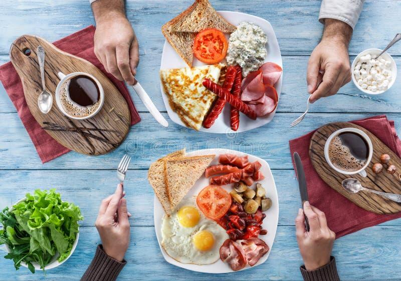 Tradycyjny śniadanie w domu obrazy royalty free