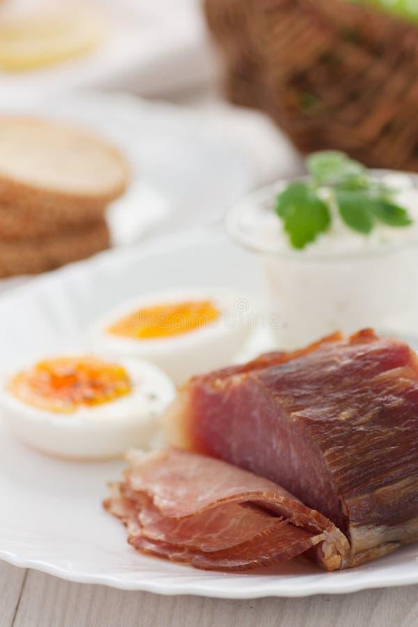 tradycyjny śniadaniowy Easter zdjęcia stock