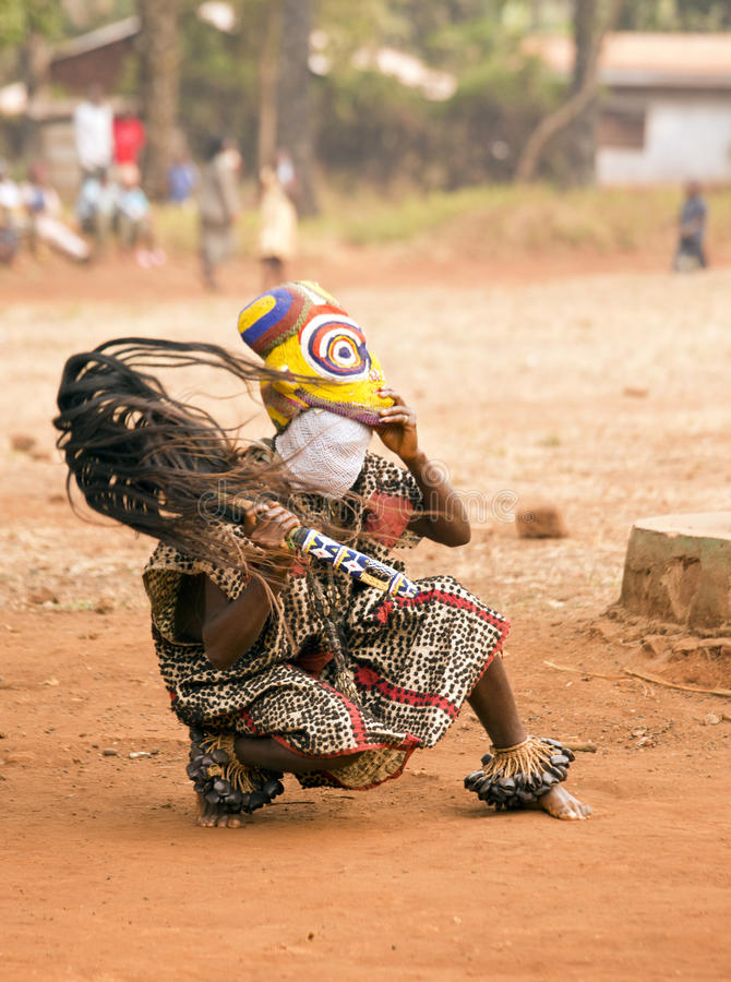 Tradycyjny Afrykański taniec zdjęcia royalty free