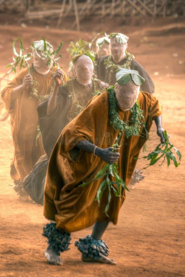 Tradycyjny Afrykański taniec zdjęcie royalty free