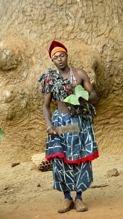 Tradycyjny Afrykański taniec obraz royalty free