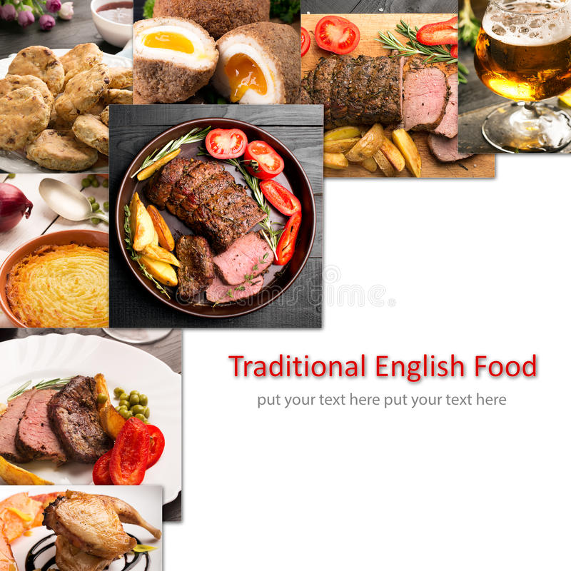 Tradycyjny Angielski jedzenie fotografia stock