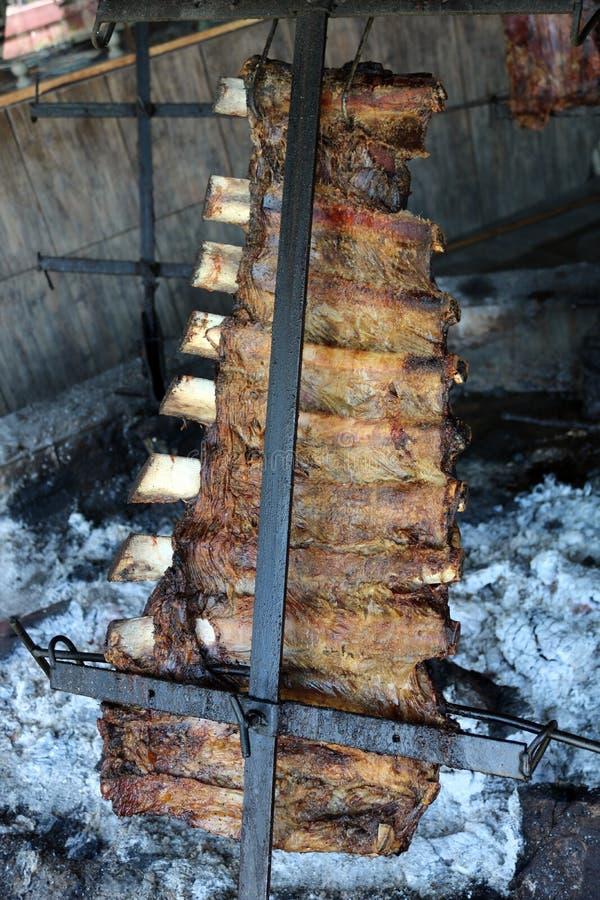 Tradycyjny argentyński asado grill od Argentina tradyci bbq od Argentyńskiego Brazil Paraguay Uruguay i chile fotografia royalty free
