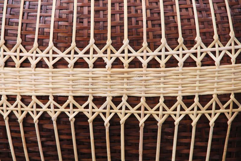 Tradycyjny bambus wyplata wzór teksturę, handcraft tło obraz stock
