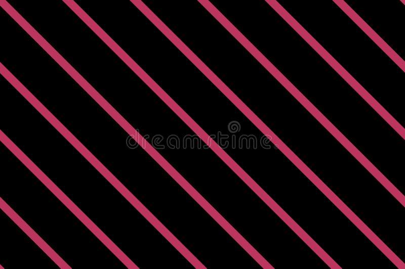 Tradycyjny bezszwowy wzór z nachylający, przekątien linie, lampasy czarne różowy również zwrócić corel ilustracji wektora ilustracja wektor