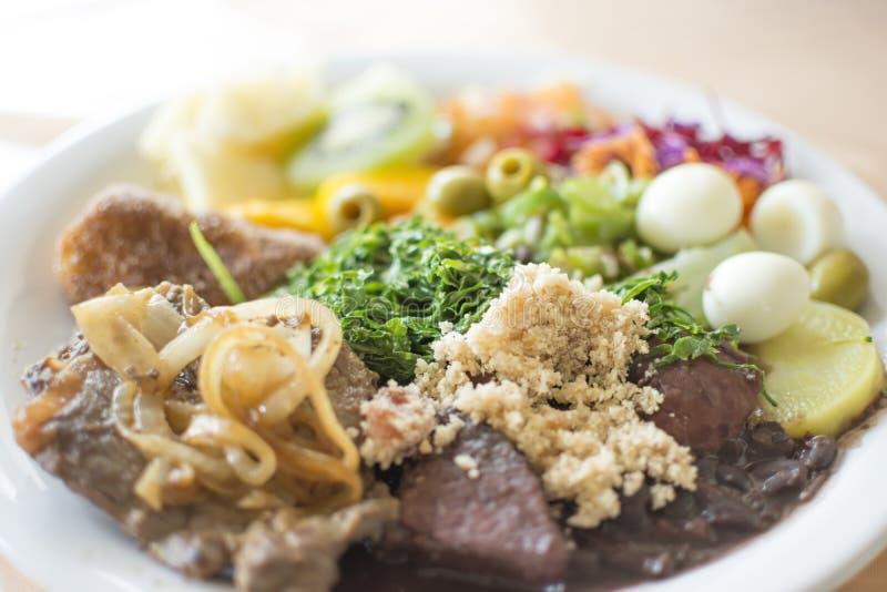 Tradycyjny brazylijski jedzenie zdjęcie stock