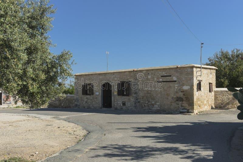 Tradycyjny budynek i ulica na Cypr obraz stock