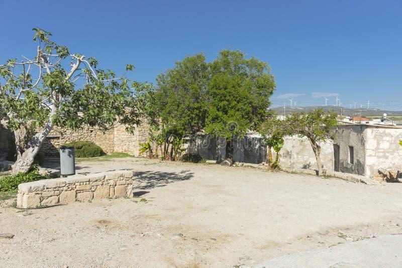 Tradycyjny budynek i ulica na Cypr obraz royalty free