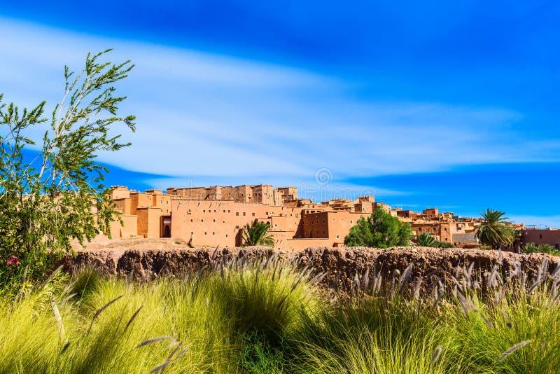 Tradycyjny budynek Kasbah Taourirt na wschodzie, Ouarzazate, Maroko fotografia royalty free