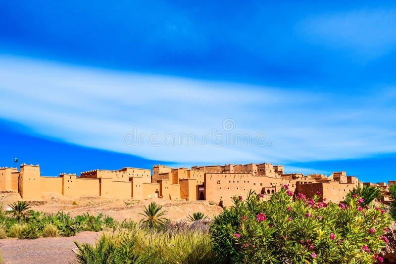 Tradycyjny budynek Kasbah Taourirt na wschodzie, Ouarzazate, Maroko zdjęcie stock