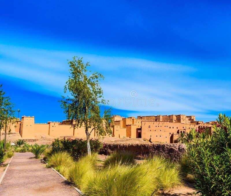 Tradycyjny budynek Kasbah Taourirt na wschodzie, Ouarzazate, Maroko zdjęcia royalty free