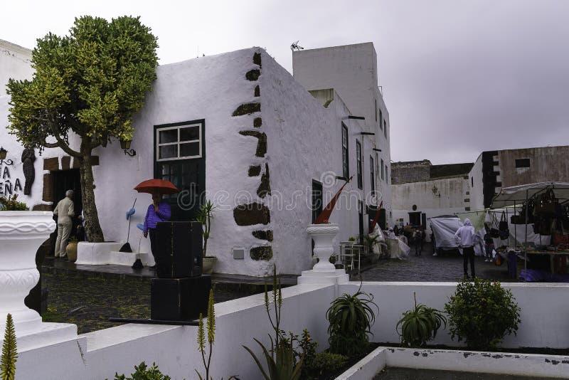 Tradycyjny budynek w Teguise obraz royalty free