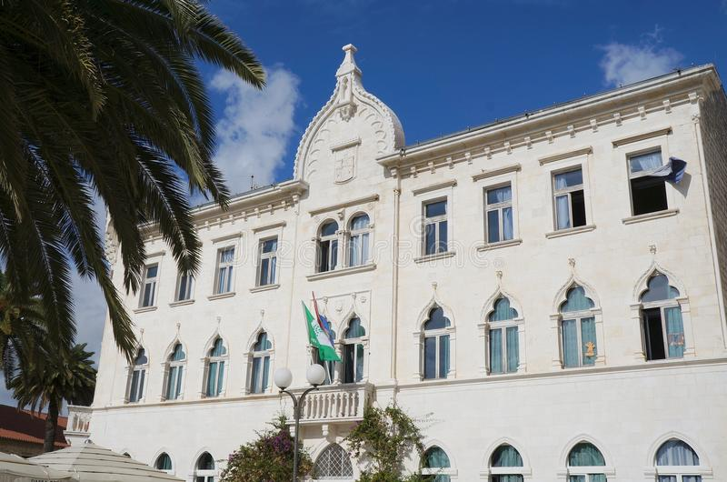 Tradycyjny budynek Wenecka architektura w Trogir zdjęcia royalty free