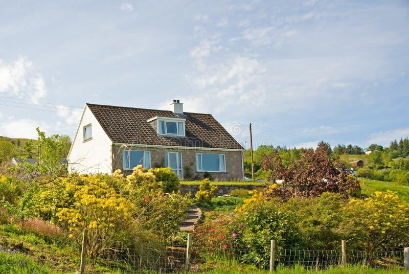 tradycyjny bungalowu scottish obrazy royalty free