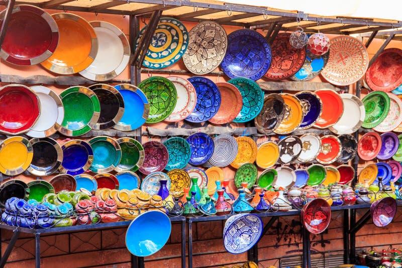 Tradycyjny ceramiczny garncarstwo w Maroko zdjęcie royalty free