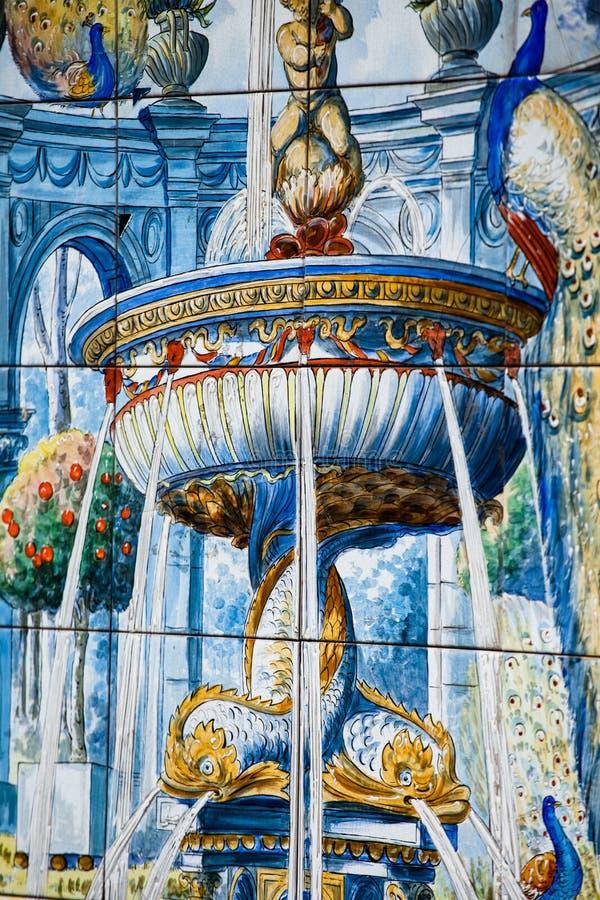 Tradycyjny ceramiczny szczegół w Hiszpania. zdjęcia royalty free