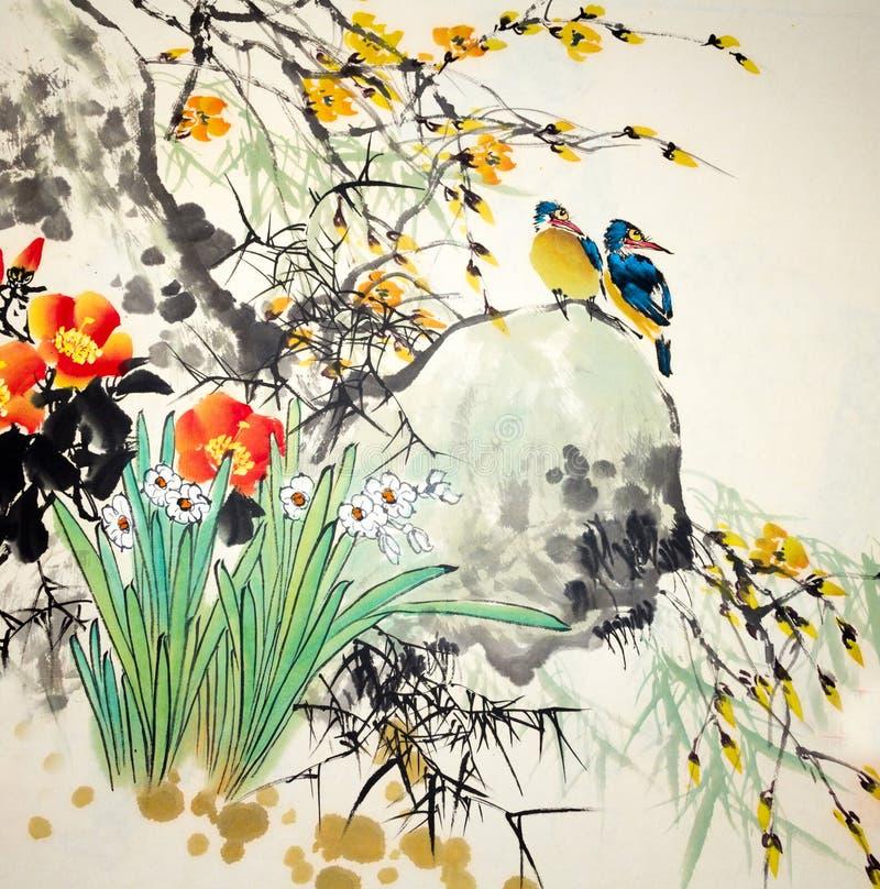 tradycyjny chiński obraz ilustracji