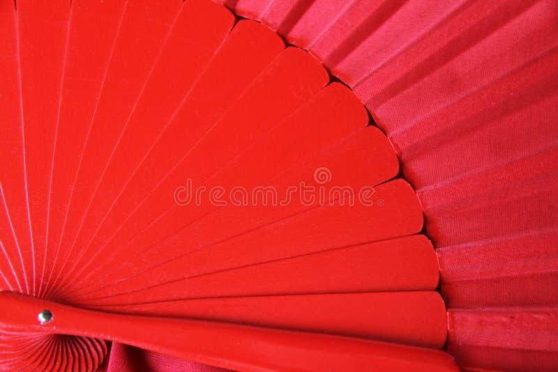 Tradycyjny czerwony flamenco fan fotografia royalty free