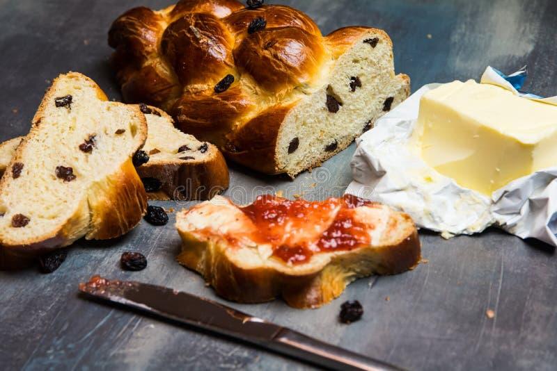 Tradycyjny Czeski Bożenarodzeniowy słodki chleb obraz royalty free