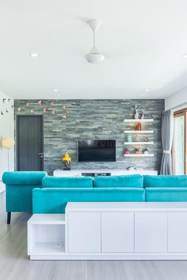 Tradycyjny design i super czysty salon mieszkalny obrazy royalty free