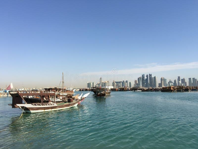 Tradycyjny Dhow, Arabscy żeglowań naczynia obrazy stock