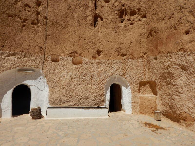 Tradycyjny dom Berbers, Tunezja zdjęcia royalty free