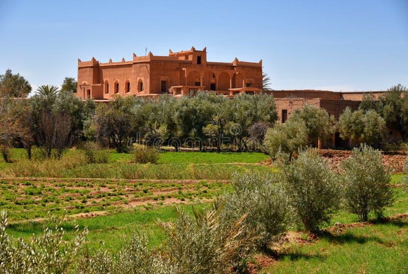 Tradycyjny dom w Maroko wsi krajobrazie obraz royalty free