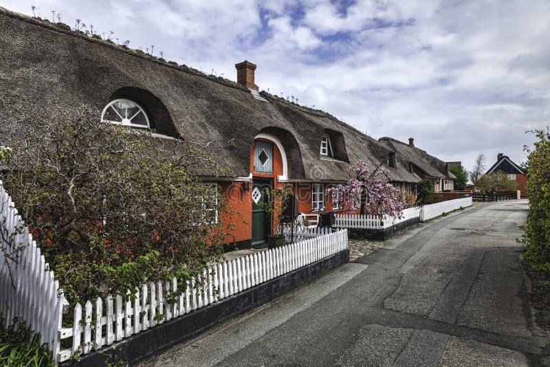 Tradycyjny dom w Nordby na duńskiej wyspie Fano zdjęcie royalty free
