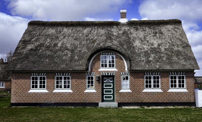 Tradycyjny dom w Sonderho na duńskiej wyspie Fano zdjęcie stock