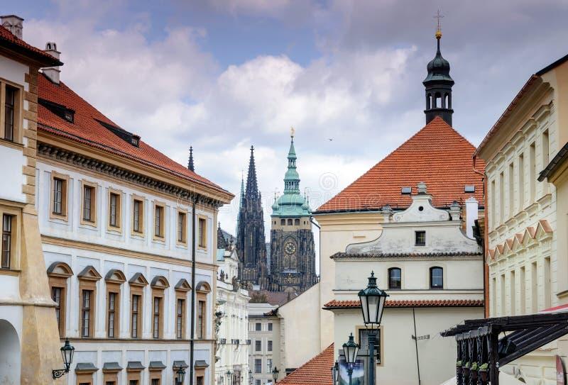 Tradycyjny domu Praga republika czech obraz royalty free