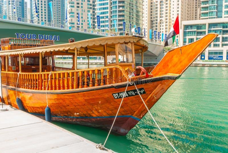Tradycyjny Dubaj wody taxi zdjęcia stock