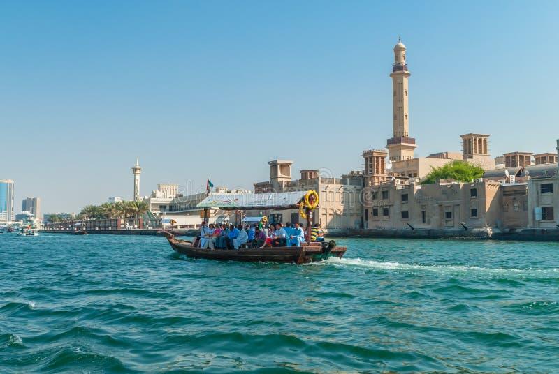 Tradycyjny Dubaj wody taxi fotografia stock