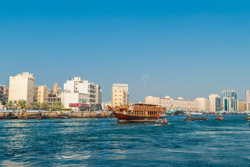 Tradycyjny Dubaj wody taxi obrazy stock