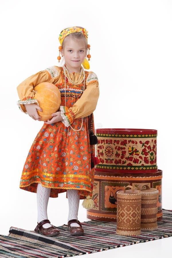 tradycyjny dziewczyna ubraniowy rosjanin obraz stock