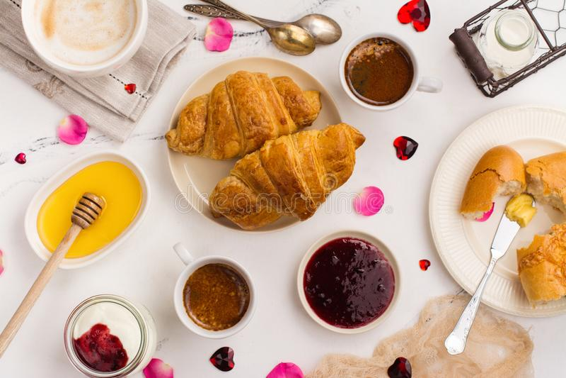 Tradycyjny francuski śniadanie fotografia royalty free