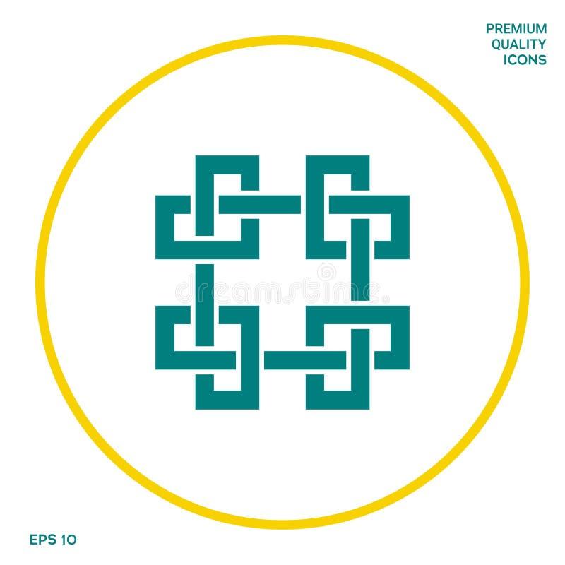 Tradycyjny geometryczny orientalny języka arabskiego wzór Element dla twój projekta - logo ilustracji