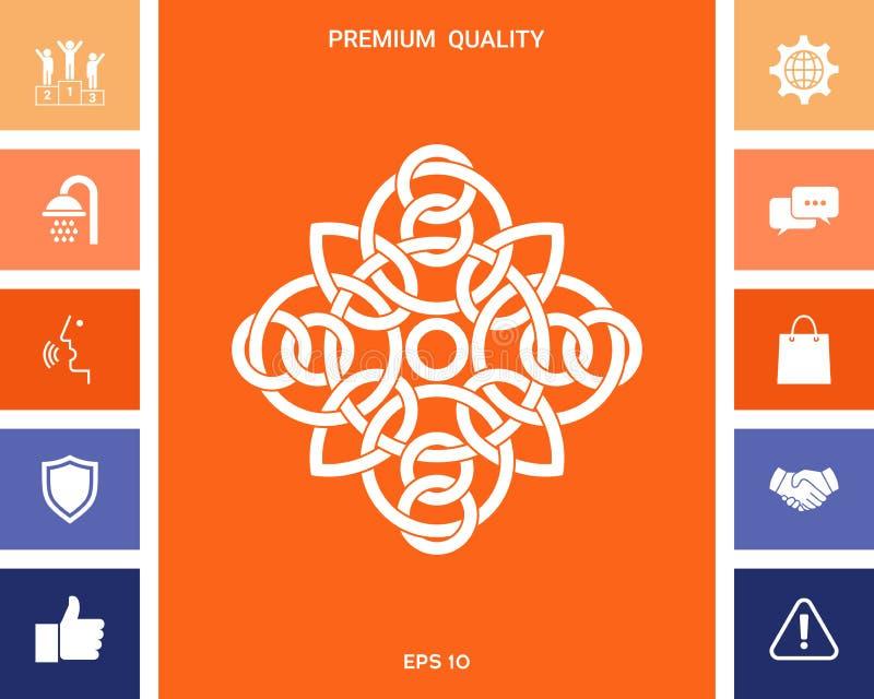 Tradycyjny geometryczny orientalny języka arabskiego wzór - logo twój projekta element royalty ilustracja