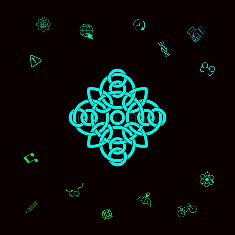 Tradycyjny geometryczny orientalny języka arabskiego wzór - logo twój projekta element Graficzni elementy dla twój designt ilustracji