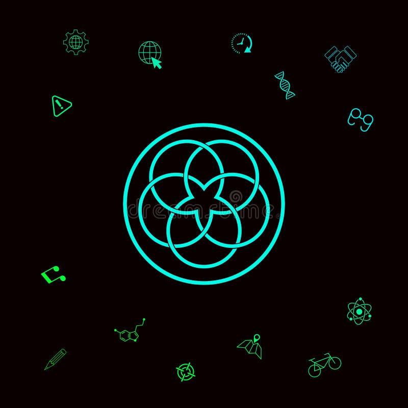 Tradycyjny geometryczny orientalny języka arabskiego wzór logo twój projekta element Graficzni elementy dla twój designt royalty ilustracja