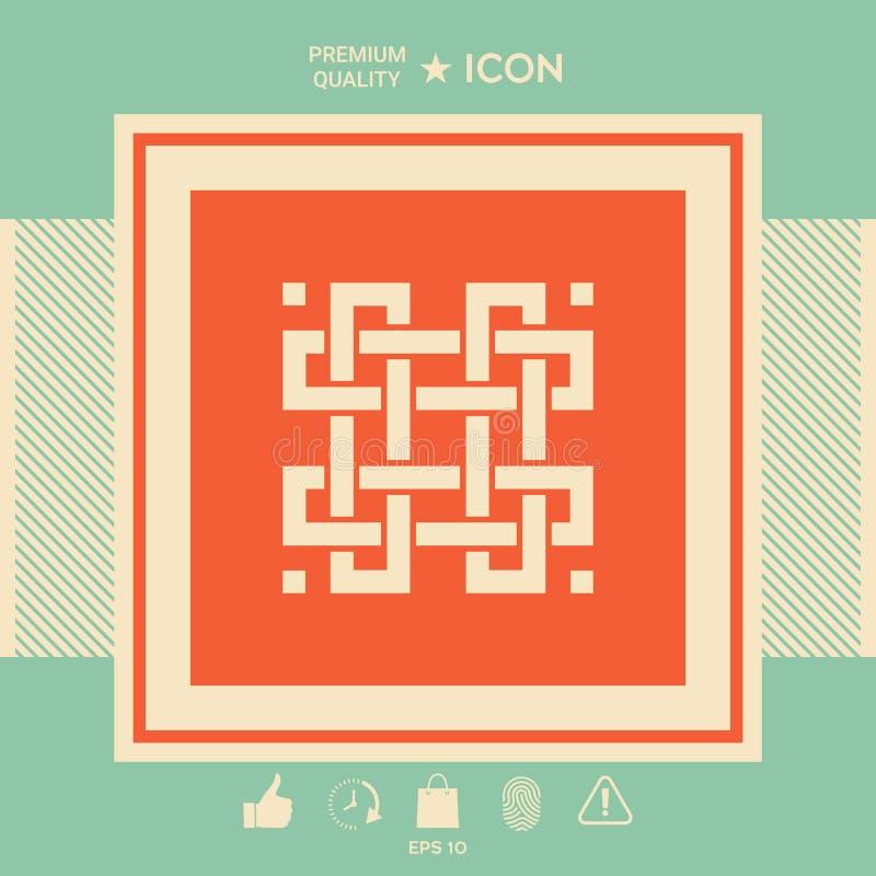 Tradycyjny geometryczny orientalny języka arabskiego wzór twój projekta element logotyp ilustracji