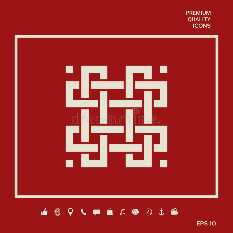 Tradycyjny geometryczny orientalny języka arabskiego wzór twój projekta element logotyp ilustracja wektor