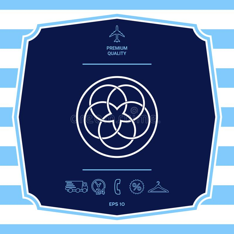 Tradycyjny geometryczny orientalny j?zyka arabskiego wz?r logo tw?j projekta element ilustracja wektor