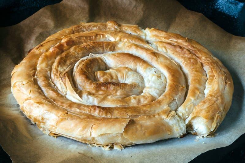 Tradycyjny Grecki serowy kulebiak obraz stock