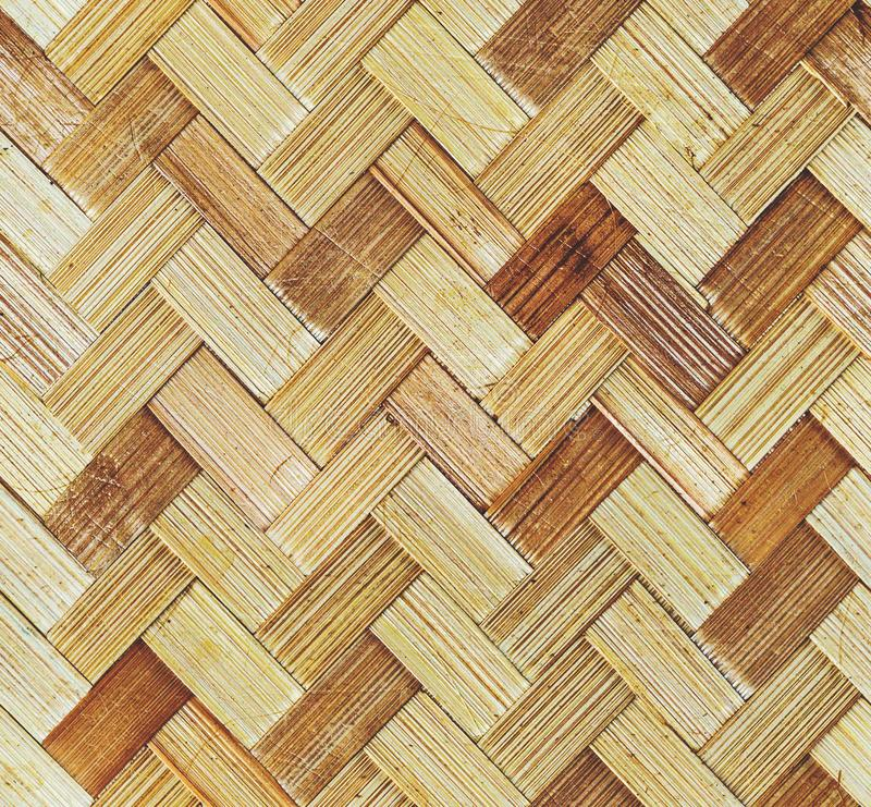 Tradycyjny handcraft wyplata Tajlandzkiej stylu wzoru natury tła tekstury łozinową powierzchnię dla meblarskiego materiału zdjęcie stock