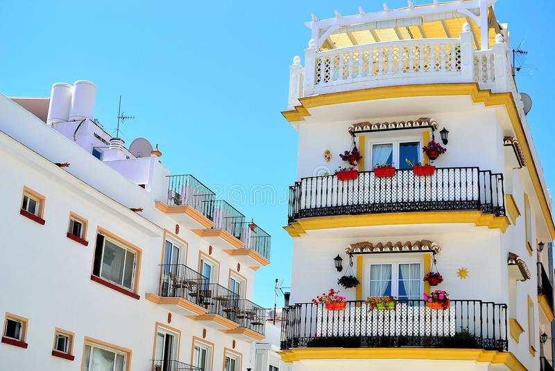 tradycyjny hiszpańszczyzna dom w Torremolinos, Costa Del Zol, Hiszpania obraz stock