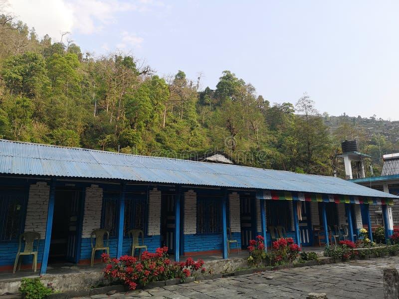 Tradycyjny hotel w Azji Nepalu zdjęcie royalty free