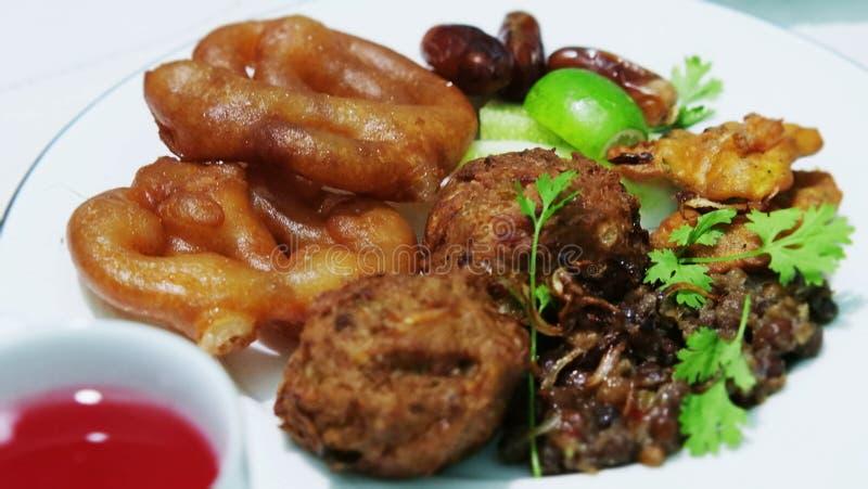 Tradycyjny iftar jedzenie Ramadan zdjęcia royalty free