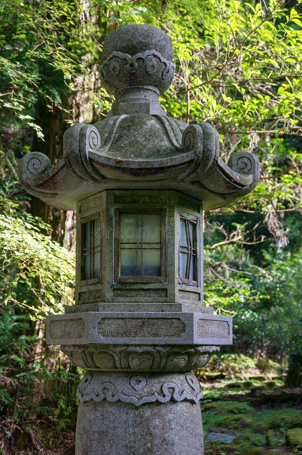 Tradycyjny Japoński lampion w parku obrazy stock